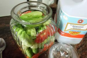 Rezept für Gurken süßsauer