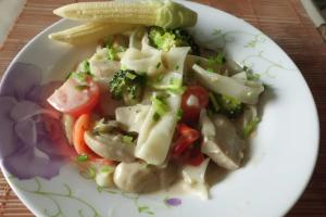 Rezept für Wok Gemüse mit Hähnchen