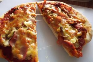 Rezept:Schinken-Pizza