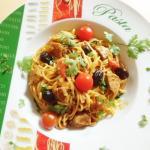 Spaghetti mit Lammfleisch
