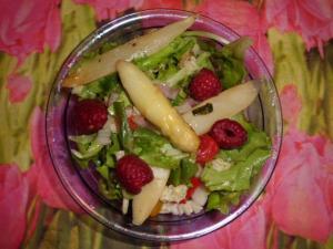 Rezept Spargelsalat mit Himbeeren