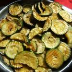 fertige Zucchinischeiben