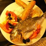 leichte Küche,Dorade mediterranee mit Salat