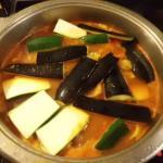 zum Schluß Zucchini und Aubergine köcheln