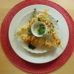 Kartoffelchips mit Meerrettich Dip