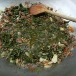 fertig zum anrichten mit Reis