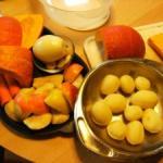 Warenkorb Kürbis,Apfel Suppe