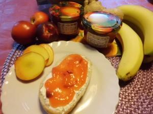 Rezept für Nektarinen Marmelade mit banane,Honigmelone, Ingwer