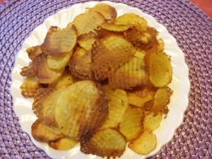 Kartoffelchips selber machen: Rezept für Kartoffelchips im Backofen