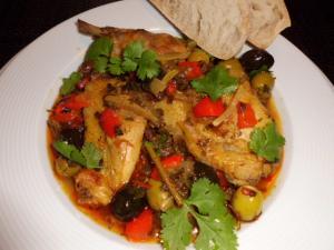 Rezept für Hähnchen mit Oliven marokkanisch
