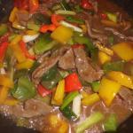Rindfleisch und Paprikagemüse in Austernsauce
