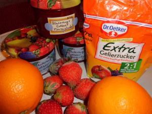 Blutorangen-Erdbeer Konfitüre