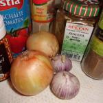 Zutaten für Lamm Rezept Spaghetti