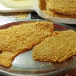 panierte Fischfilet mit Cornflakes