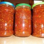 Tomaten Chutney eingemacht in Gläser