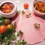 Tomaten- und Zucchini Chutney mit Kasslerbraten