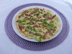 Pfannkuchen Grundrezept mit Serrano Schinken