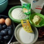 Zutaten für Pflaumenkuchen