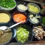 Zutaten für Linsensuppe Rezept vegetarisch