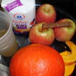 Zutaten für Kürbis Marmelade mit Äpfel und Zimt
