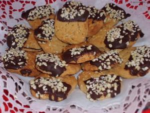 Mandel Plätzchen mit Schokolade