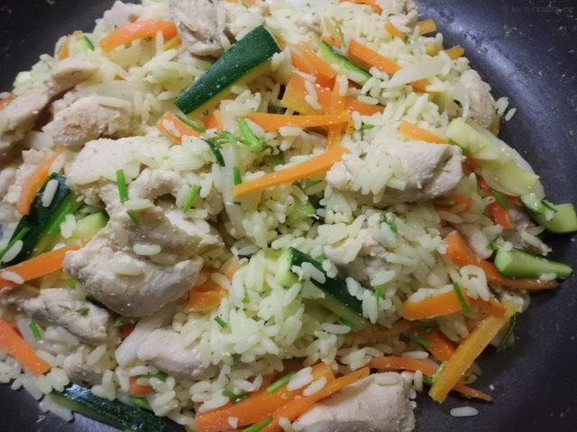 Gemüse Reispfanne