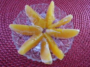 Zwischenmahlzeit eine Apfelsine