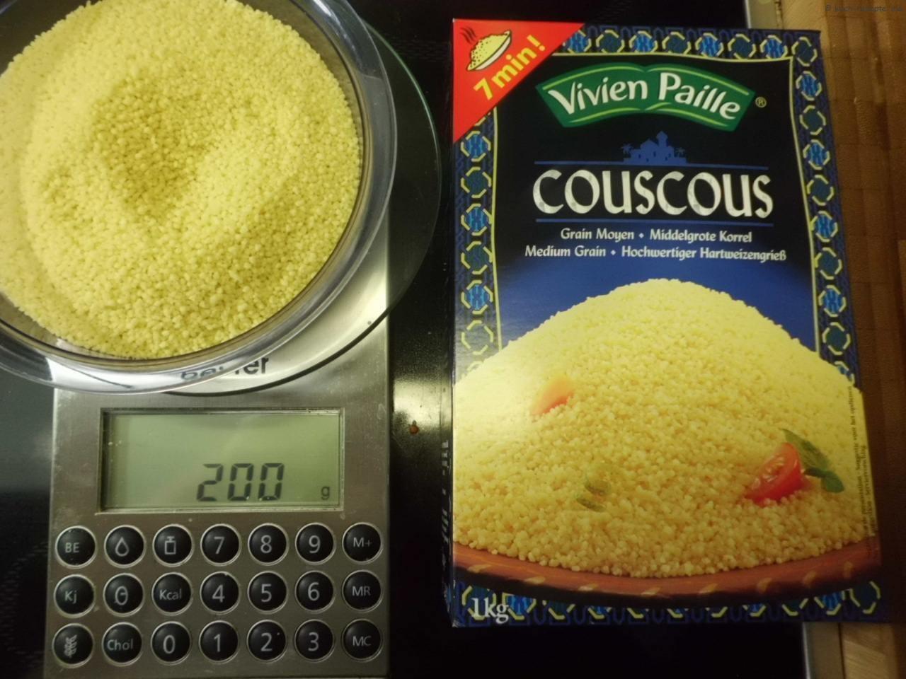 Couscous abwiegen