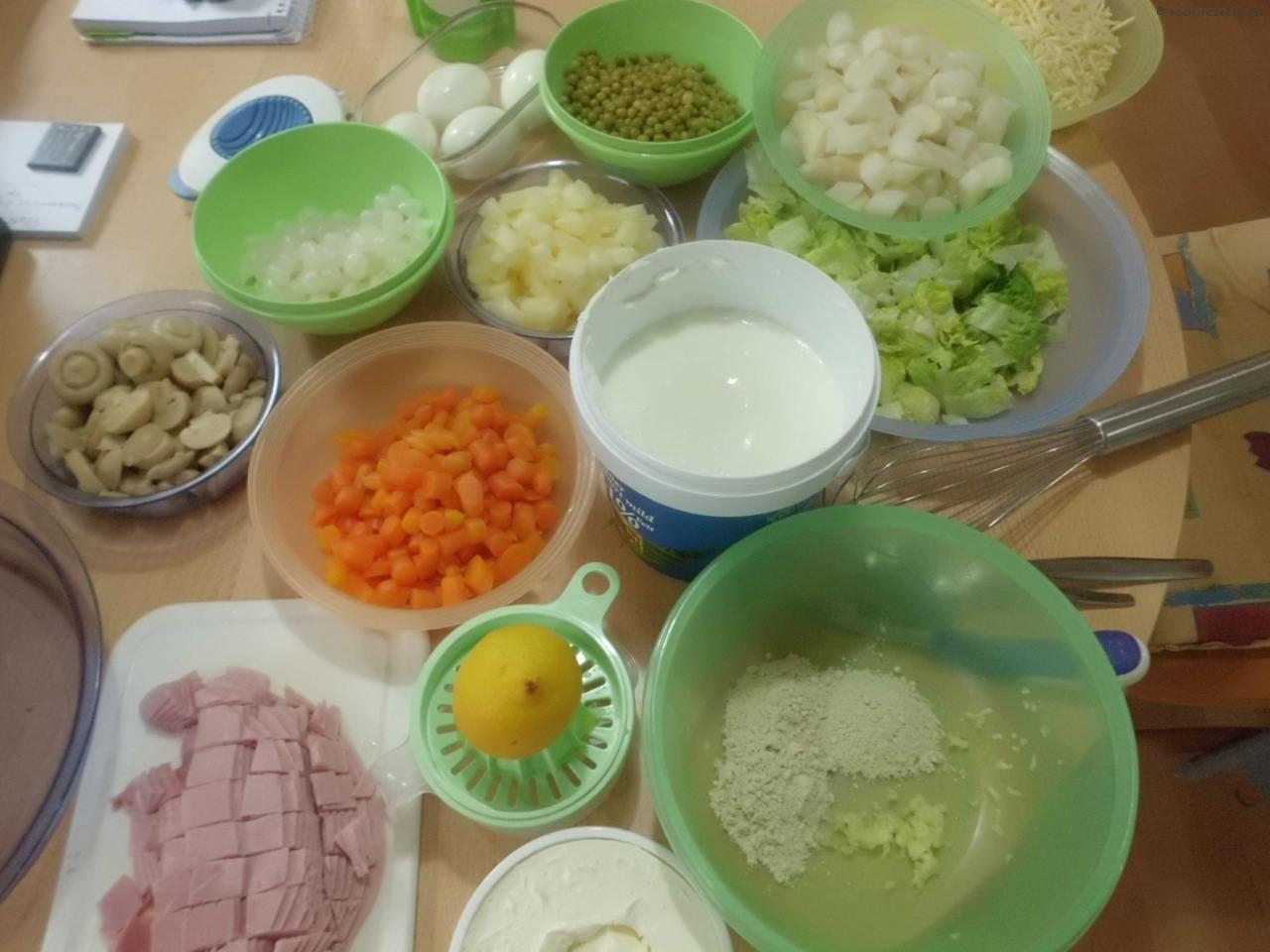 Zutaten für Schichtsalat