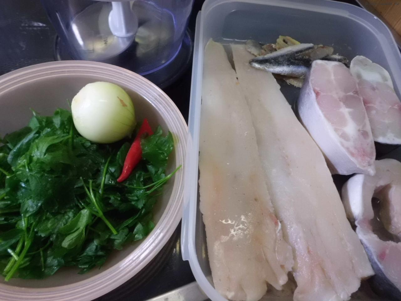 Zutaten für Fischfrikadellen