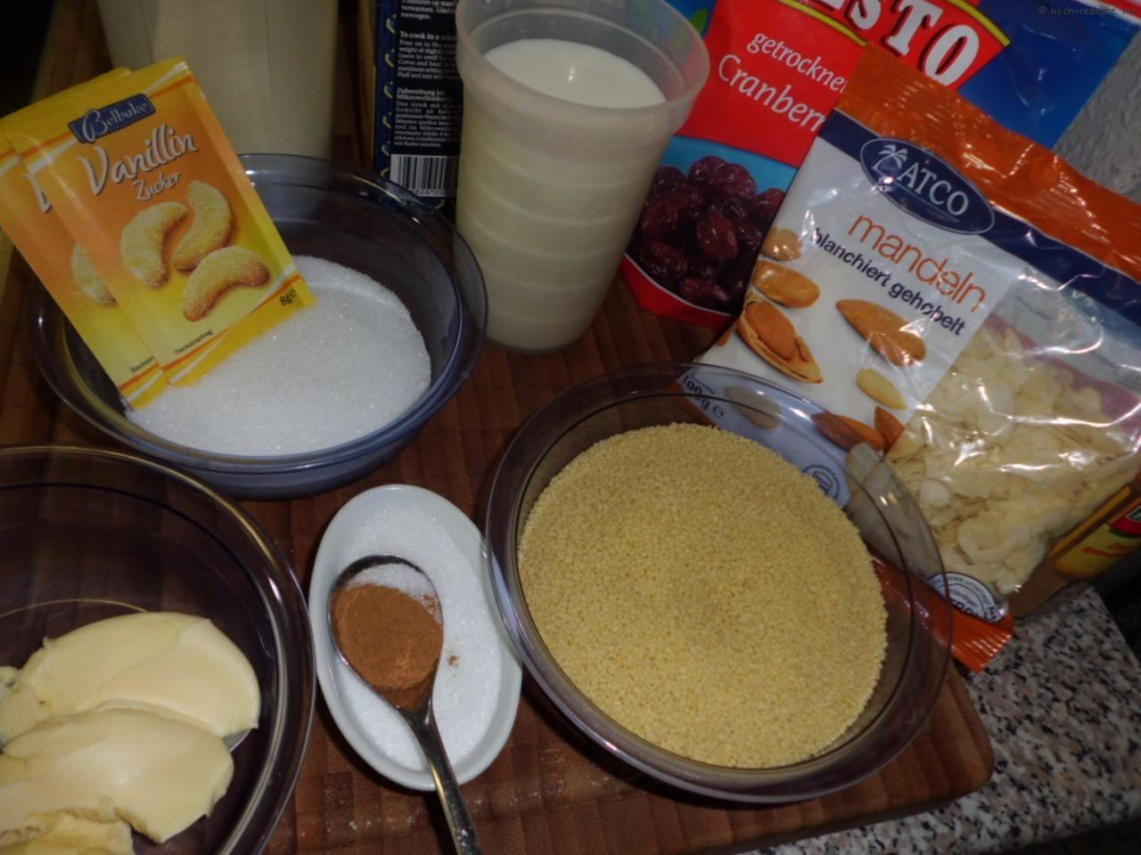 Zutaten für Dessert