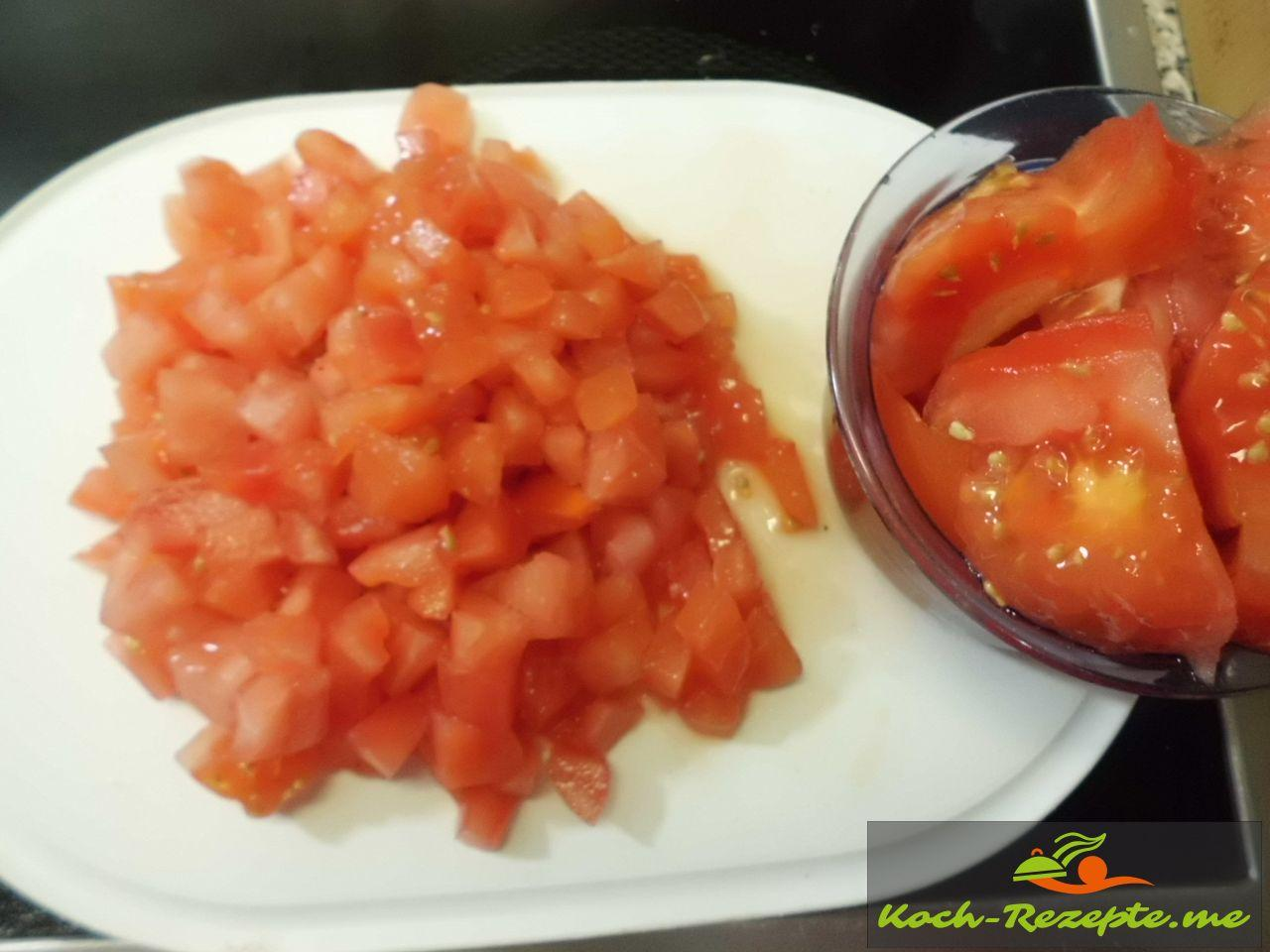 Tomaten gewürfelt für Minestrone