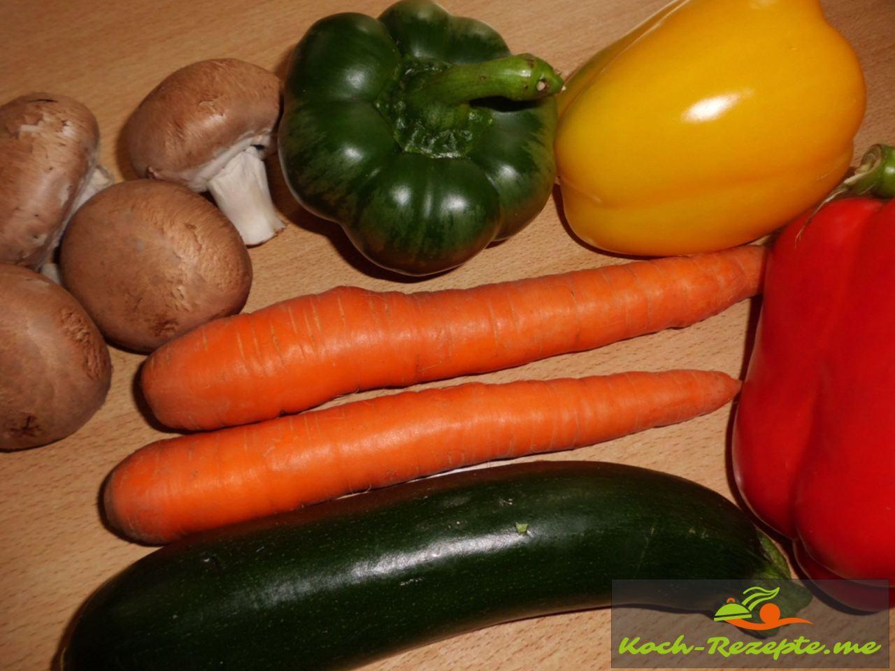 Gemüse für Minestrone