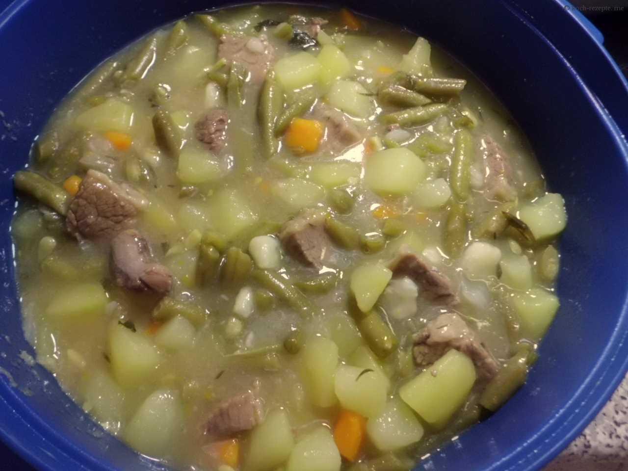 ferige Bohnensuppe