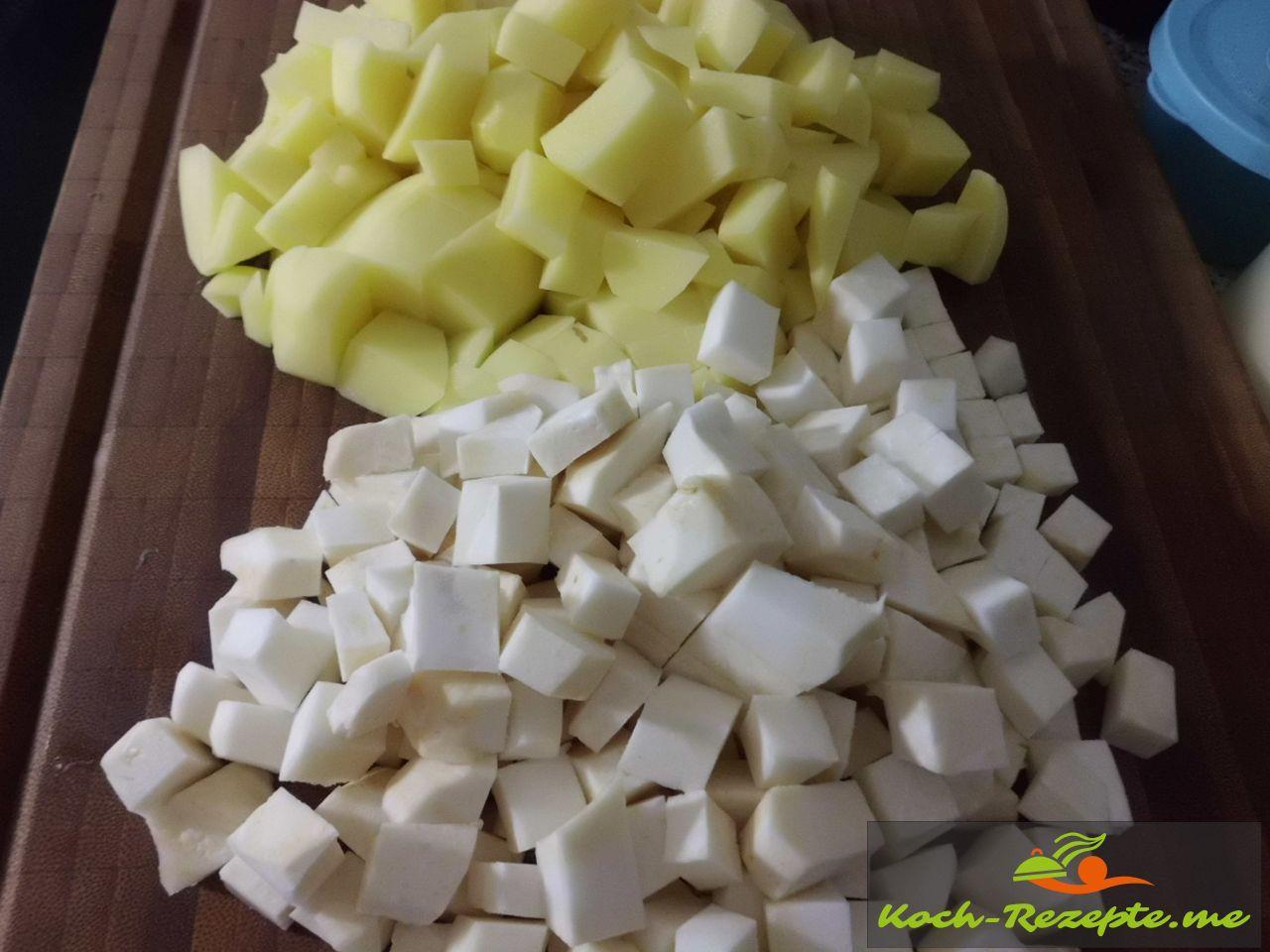 Kartoffeln und Sellerie