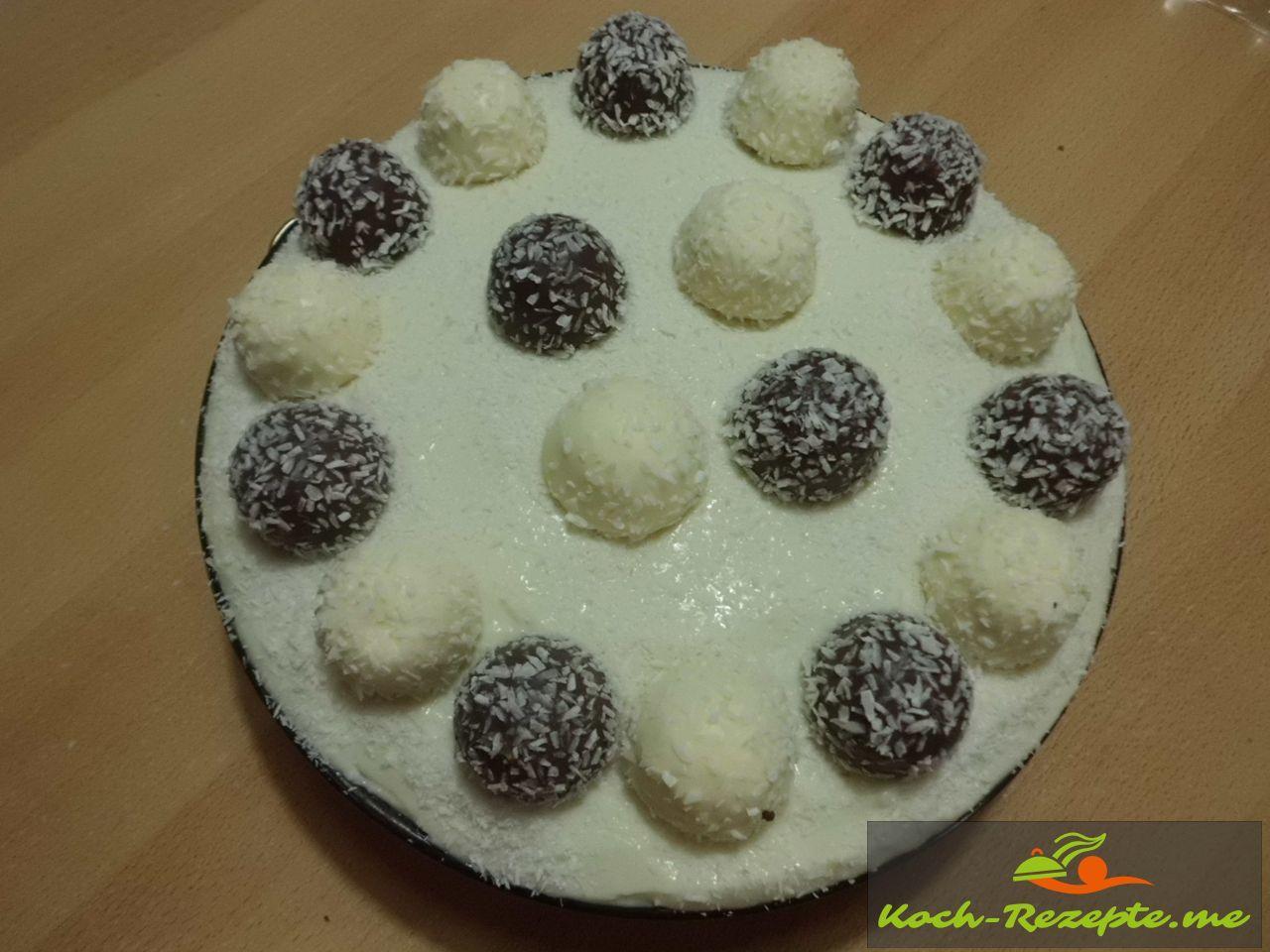 garnieren der Torte