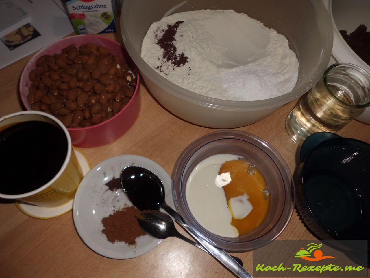Zutaten für Mandel Berliner-Brot