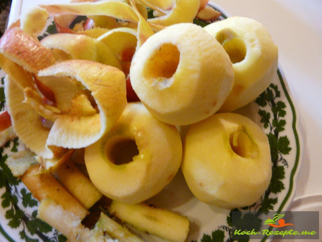 Geschälte Äpfel