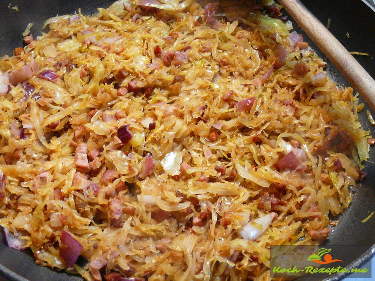 Sauerkraut gut anbraten