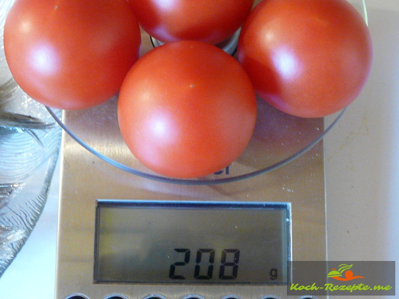 Tomaten wiegen