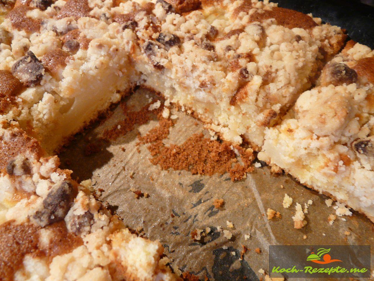 Blechkuchen: Birnenkuchen