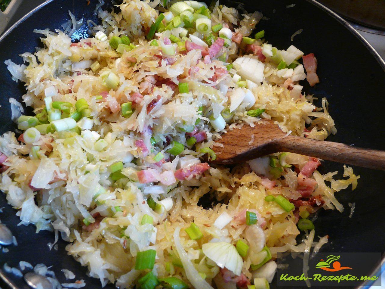 Sauerkraut anbraten