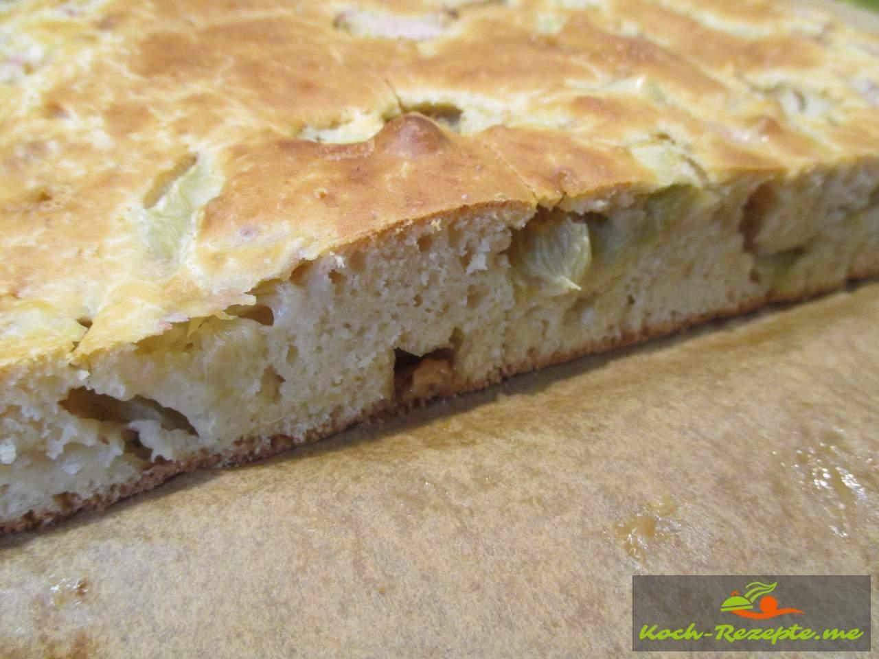 Rhabarber Kuchen ohne Butter und Zucker