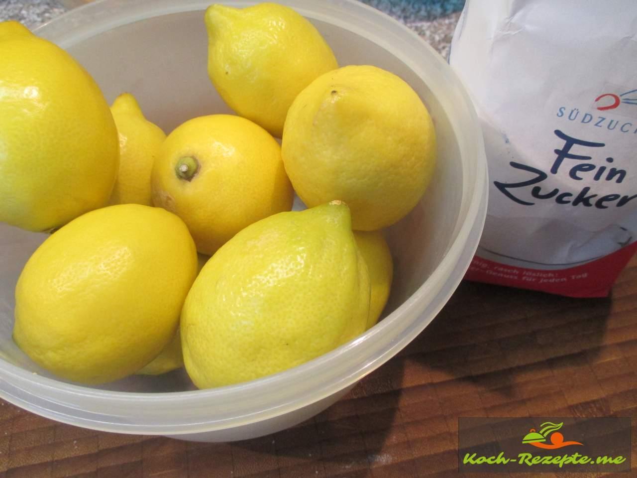 Unbehandelte Zitronen
