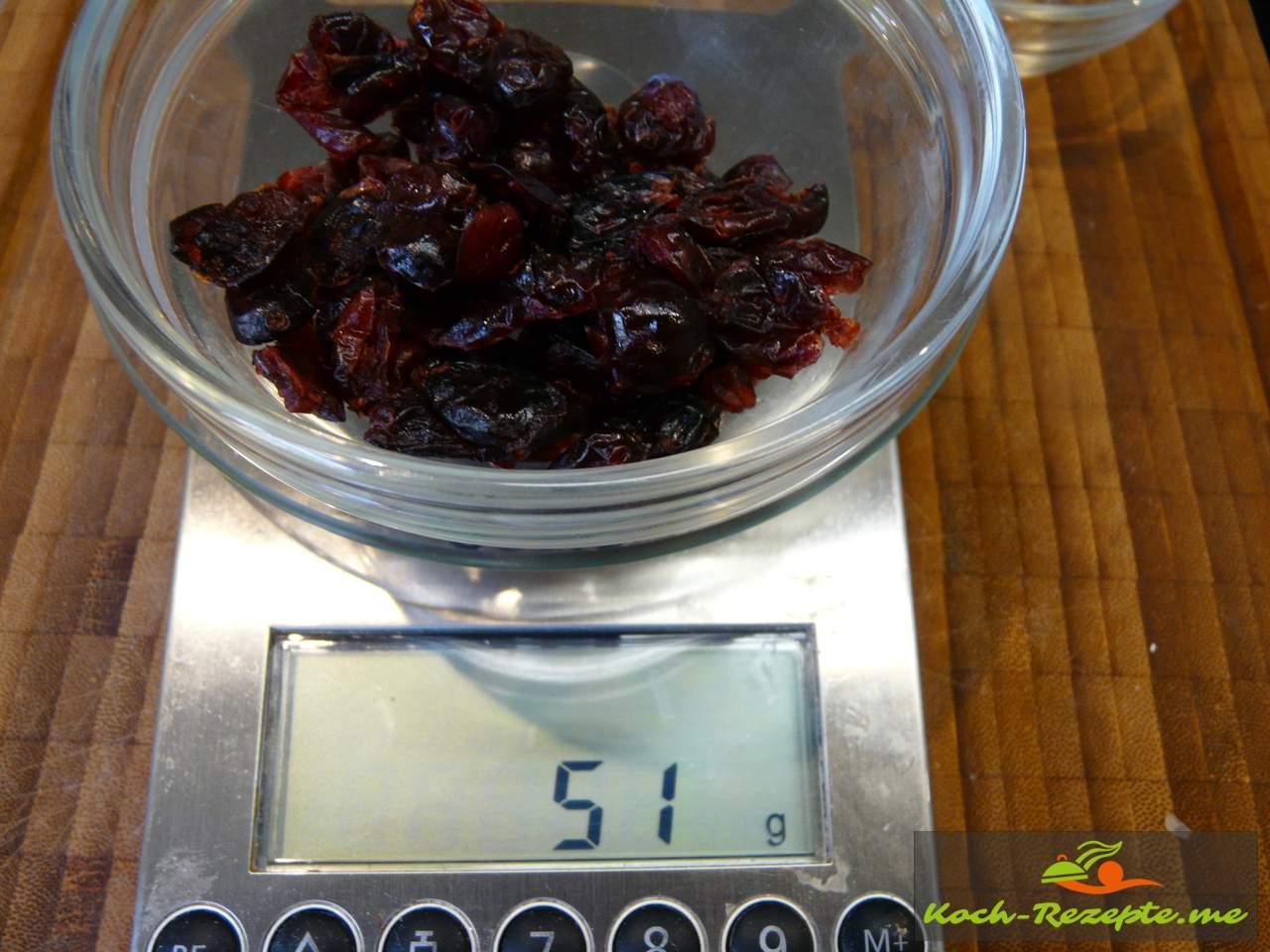 50 g Cranberries getrocknet