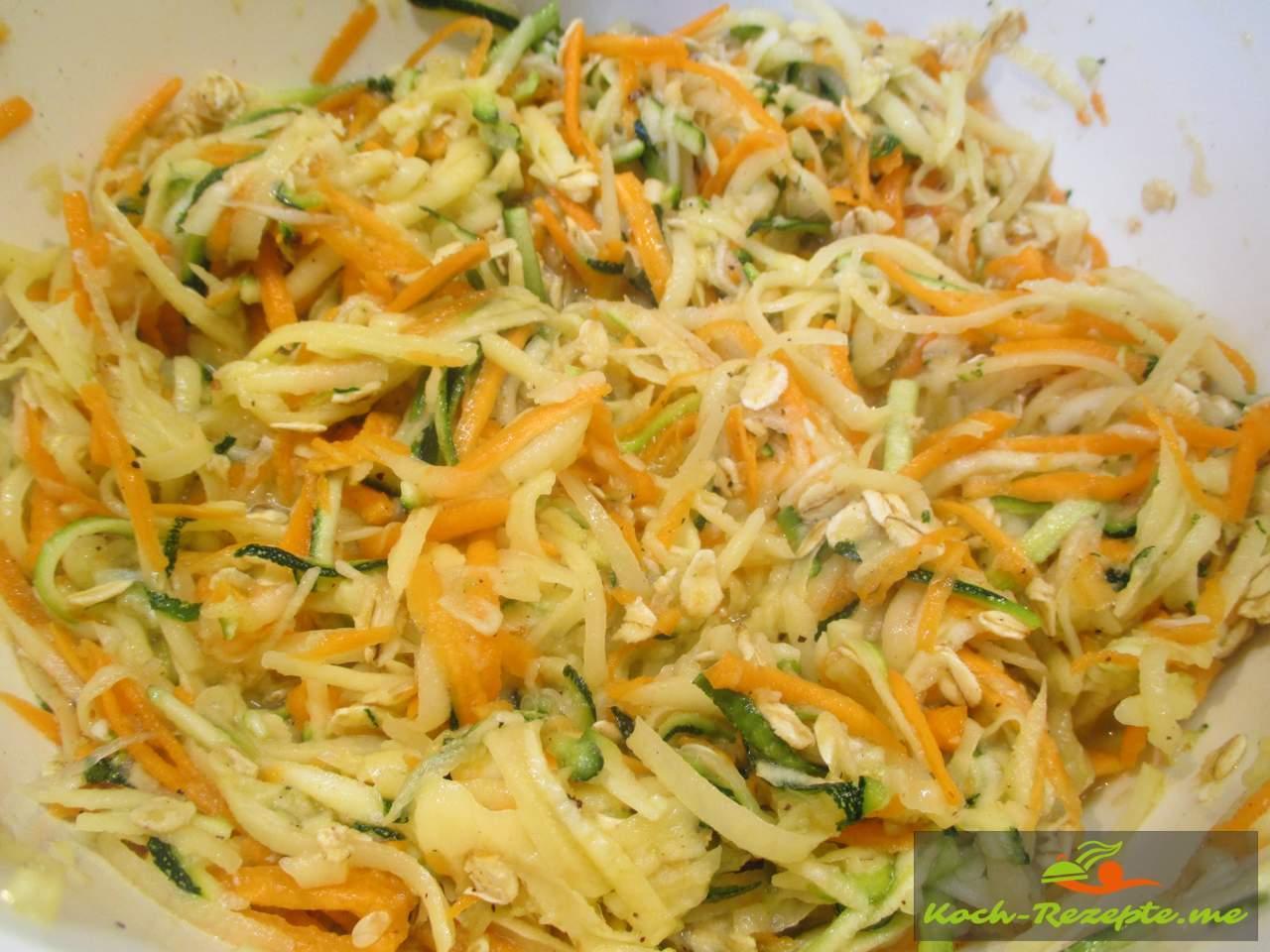 fertiger Teig für die Zucchini-Bratlinge
