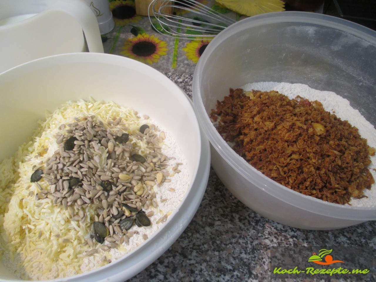 Nach diesem Rezept geröstete Zwiebeln unterheben dann die Milch unterrühren