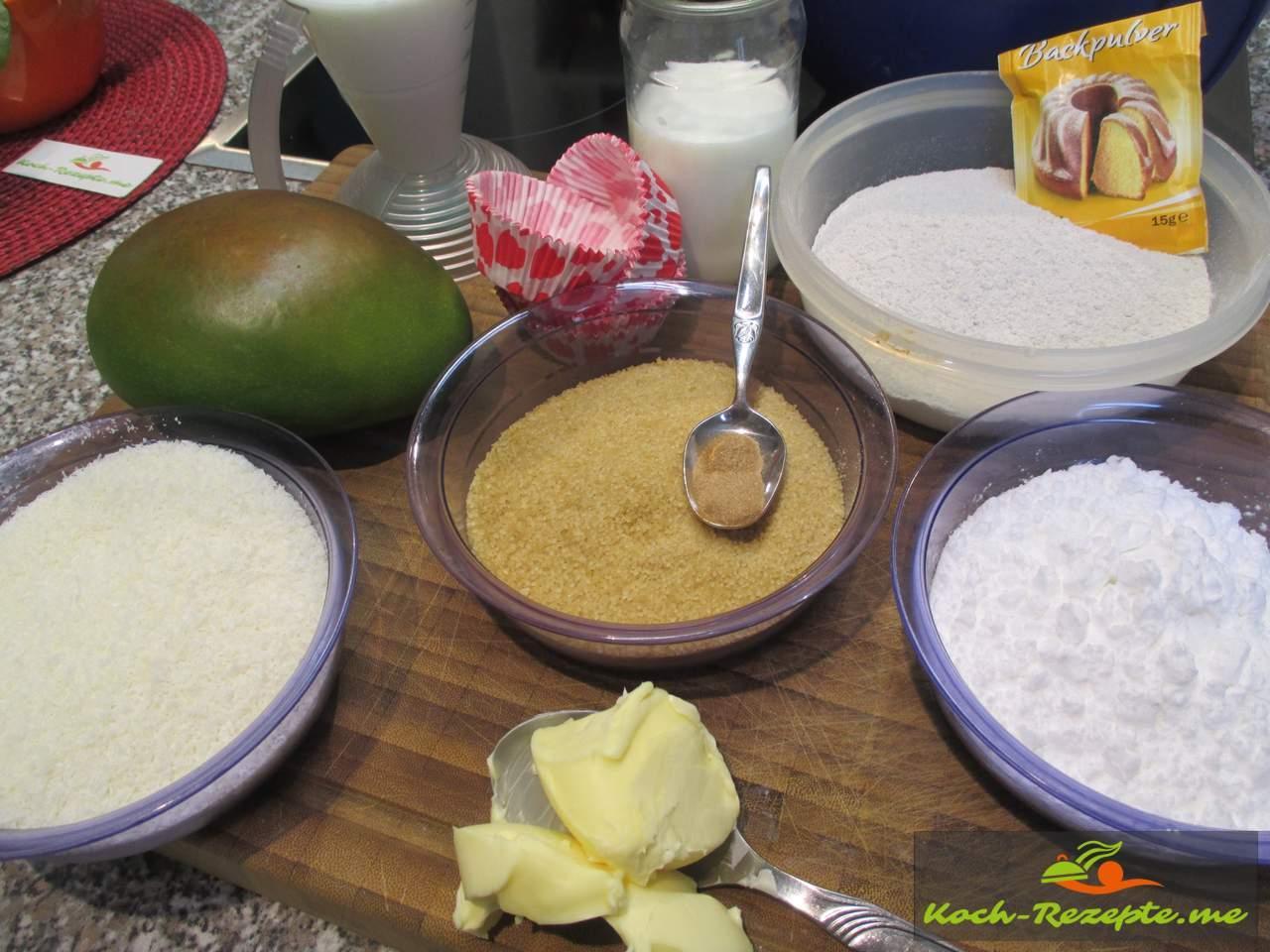 Zutaten für Mango Muffins
