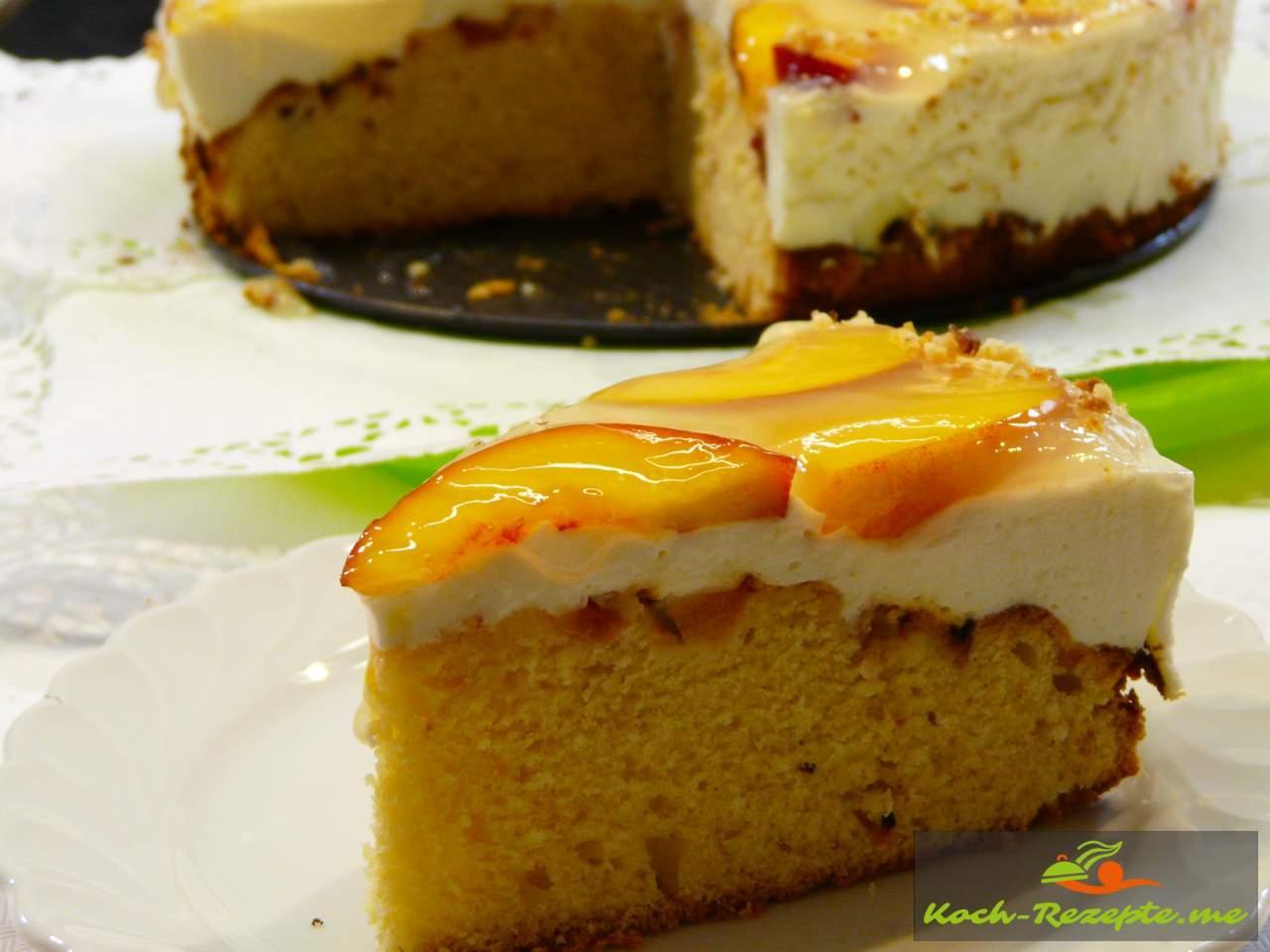 Nektarinen Torte