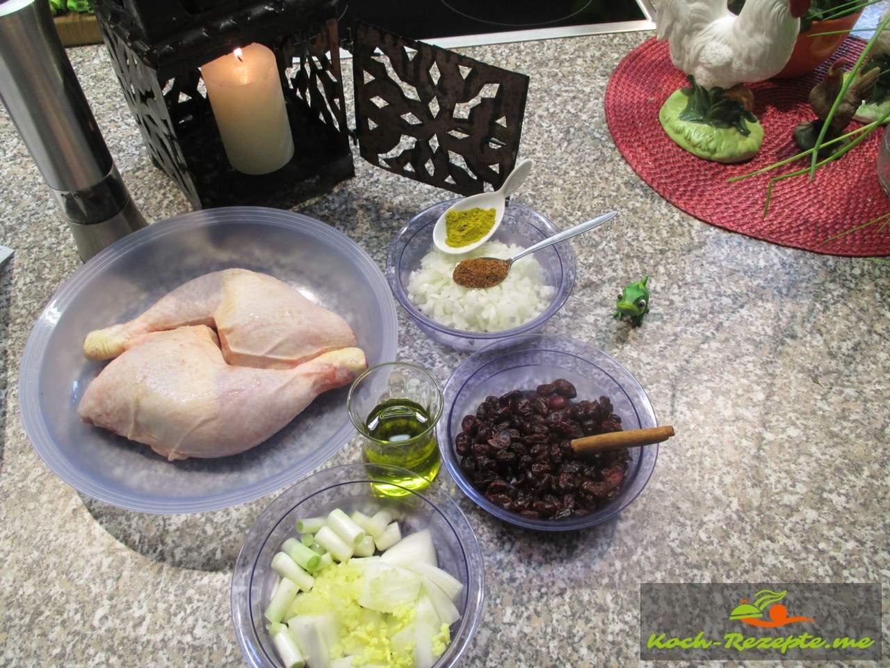 Zutaten für Marokkanische Hähnchen
